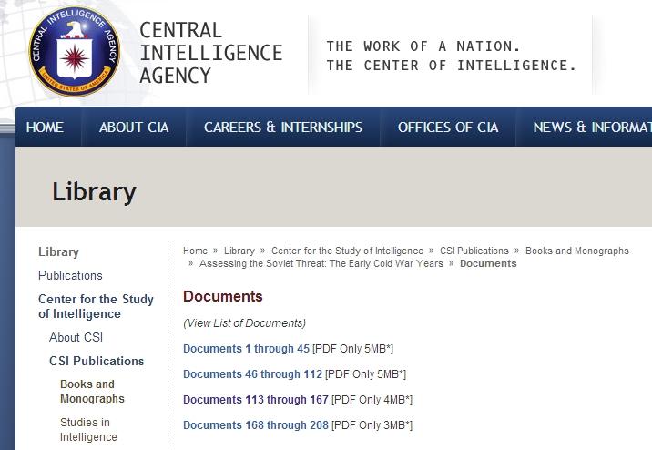 [자료 소개] 비밀해제된 미국CIA의 보고서