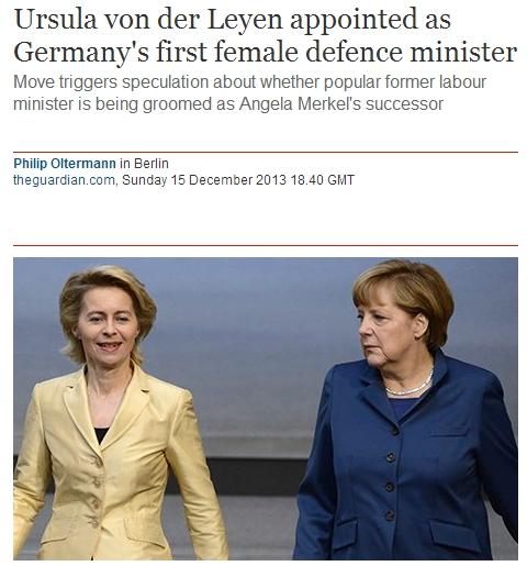 독일의 첫 여성 국방장관...