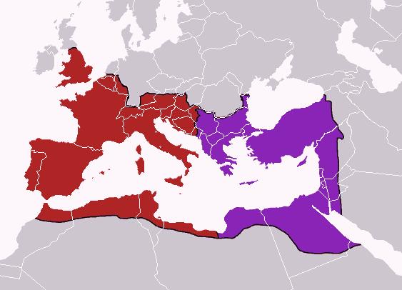 로마 제국의 동서 분할 - 기번의 <로마제국쇠망사> 69