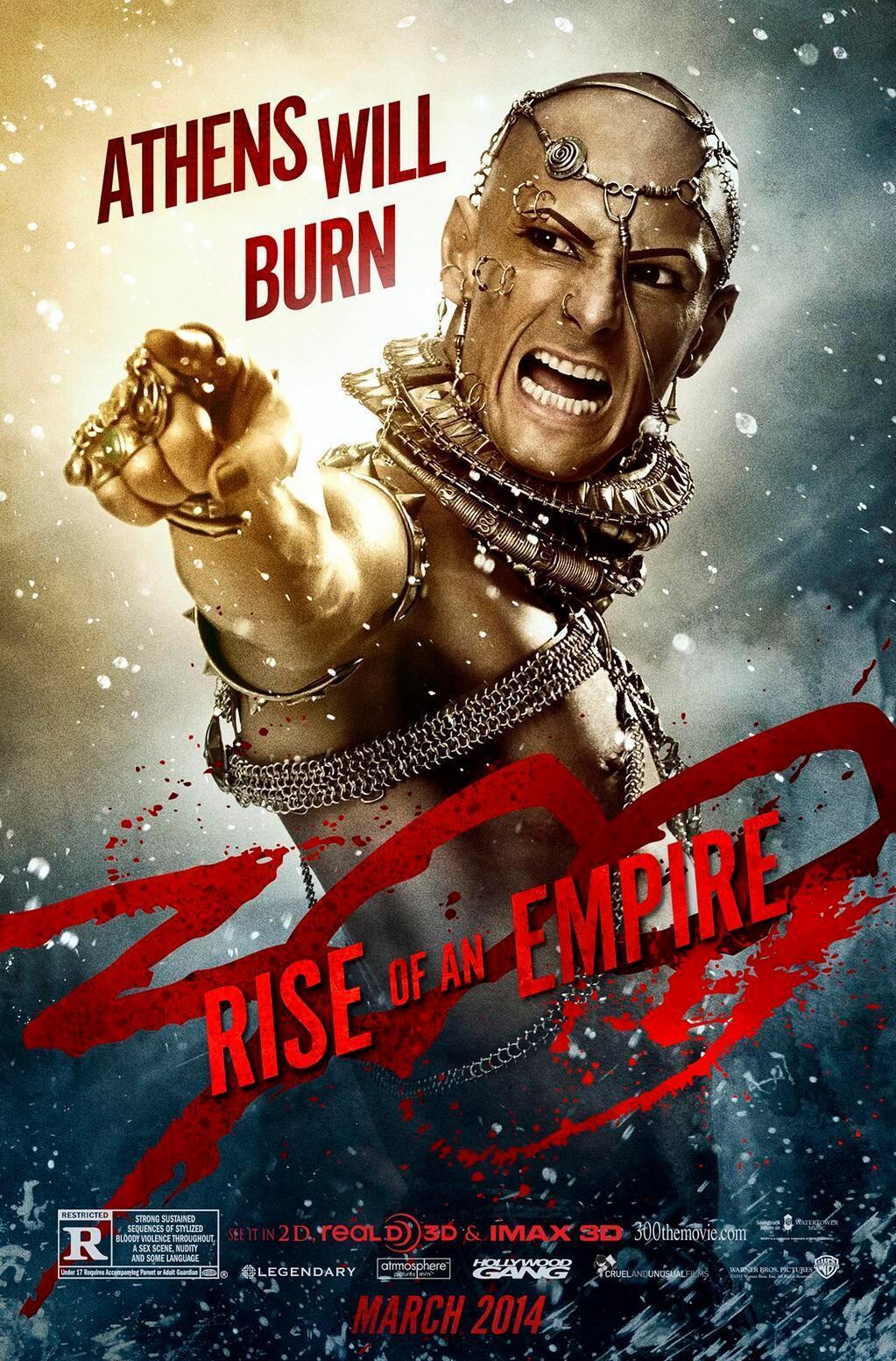 """""""300 : 제국의 부활"""" 포스터들입니다."""