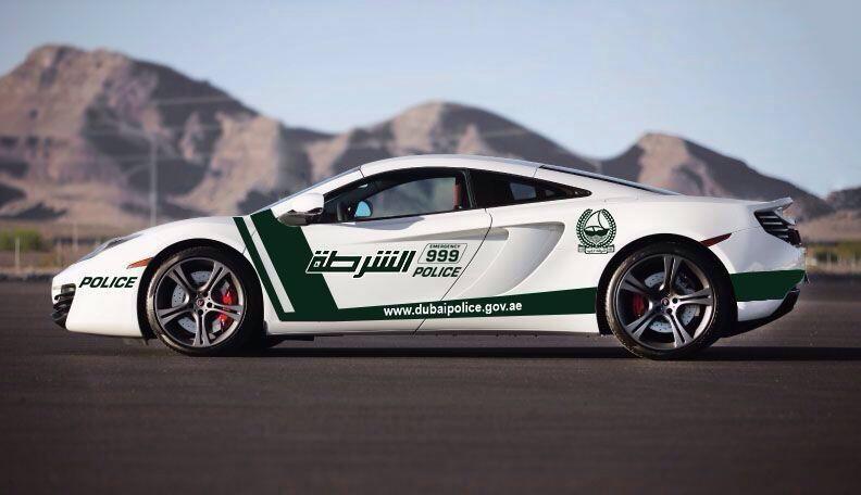 McLaren MP4-12C Dubai police