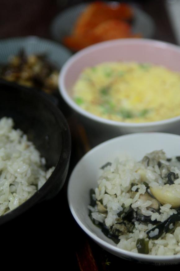 자취녀의 계절밥상(겨울)-굴미역밥, 밥만 먹어도..