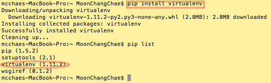 [OS X] Mavericks에 python virtualenv 환..