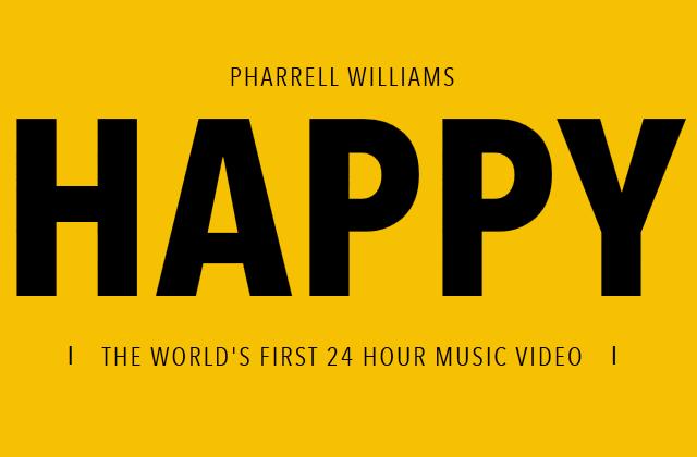 [영상] 24시간의 HAPPY! - Pharrell Williams