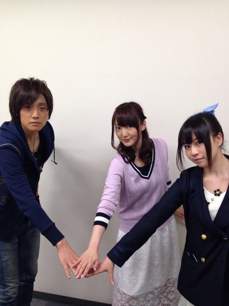 성우 타나베 루이 & 아스미 카나의 사진이로군요.