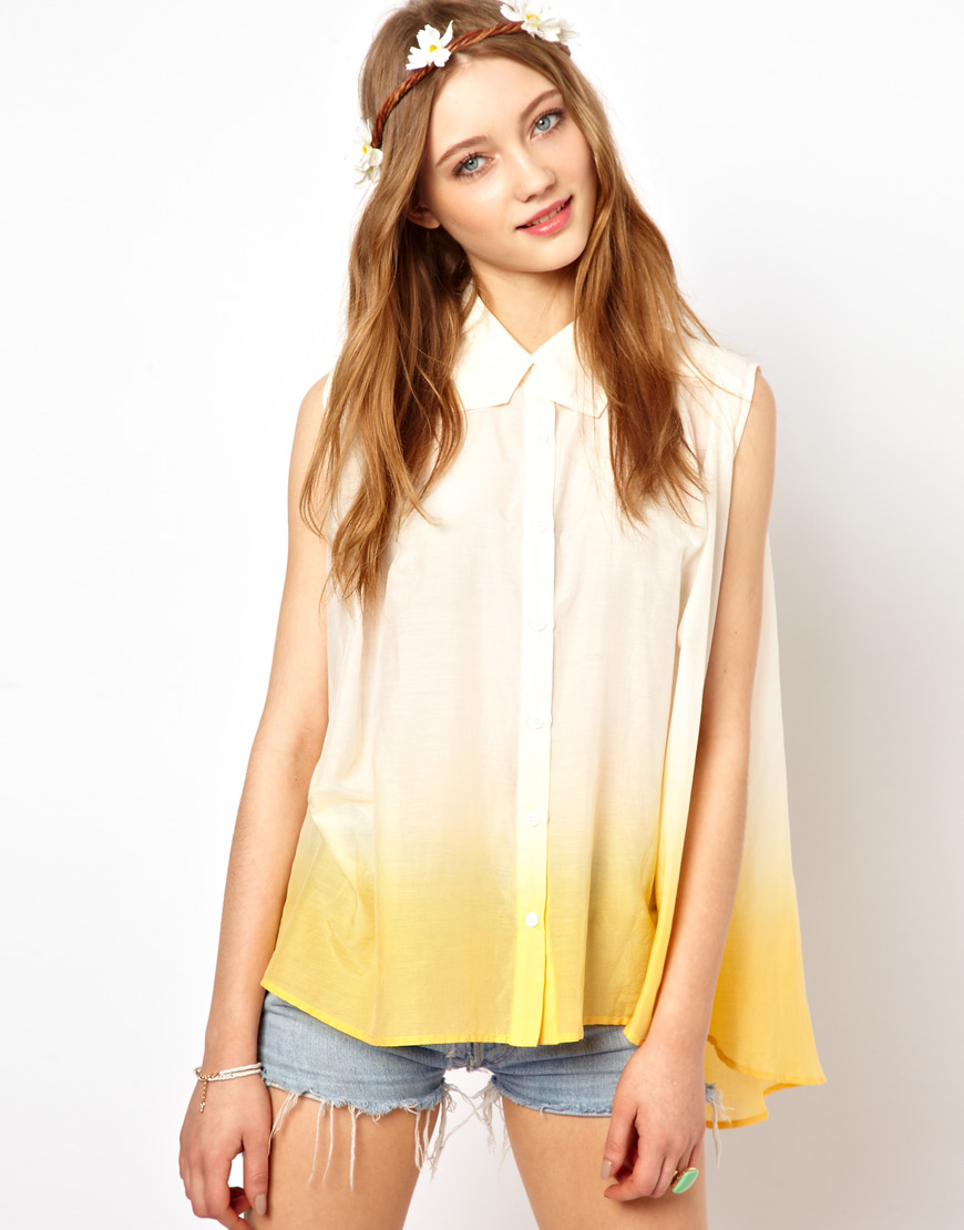 여성복(Winter Kate Ember Sleeveless Shirt in S..