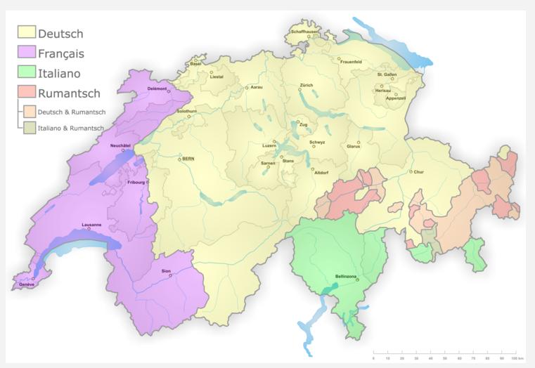 스위스 연방의 언어