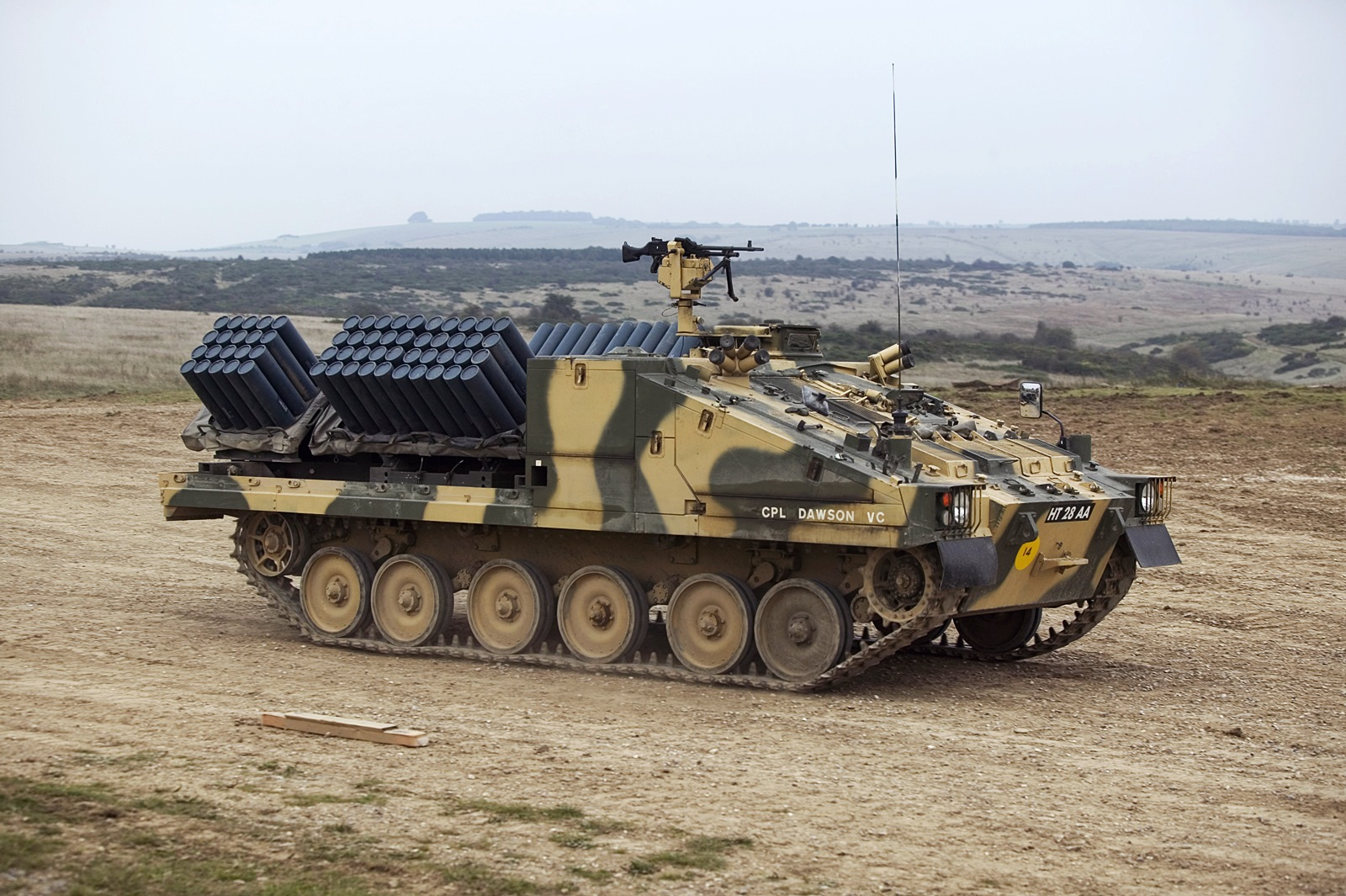 영국군 Shielder 대전차 지뢰 살포 장갑차