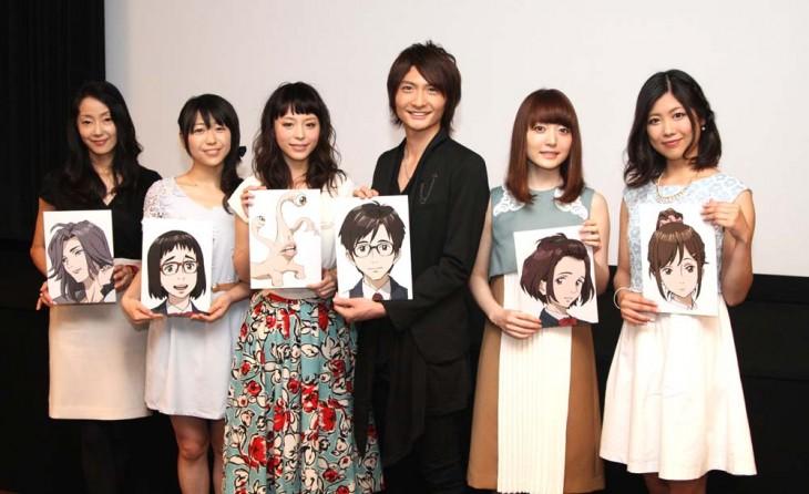 2014년 10월 신작 '기생수' 애니메이션 기자 회견 사진