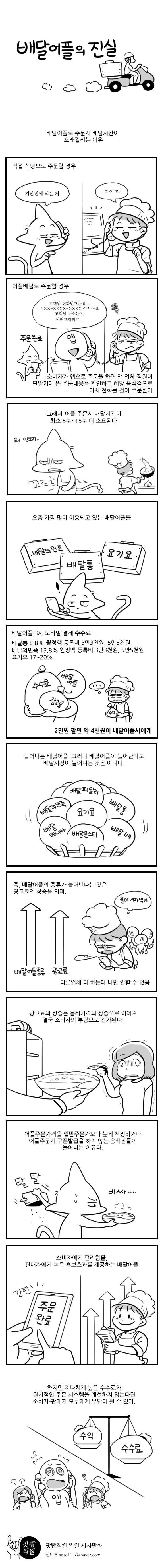 펌/ 음식 배달 어플의 진실