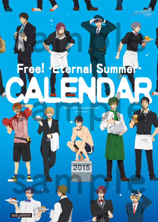 Free! Eternal Summer 2015년 CALENDAR 발매 결정!