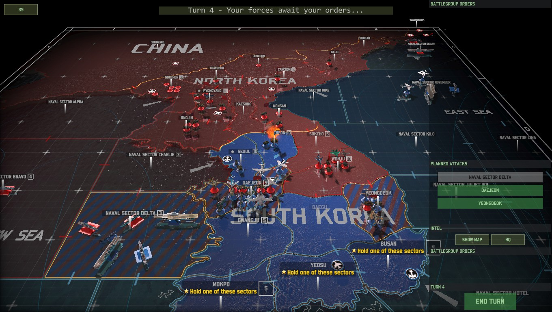 워게임: 레드 드래곤 제 2차 한국전쟁-반격과 북진.