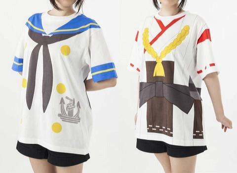 코스프레 기분을 맛볼 수 있는 함대 컬렉션 셔츠 2종류