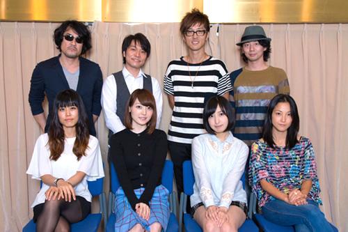 애니메이션 '사이코패스2' 주요 성우진의 단체 사진