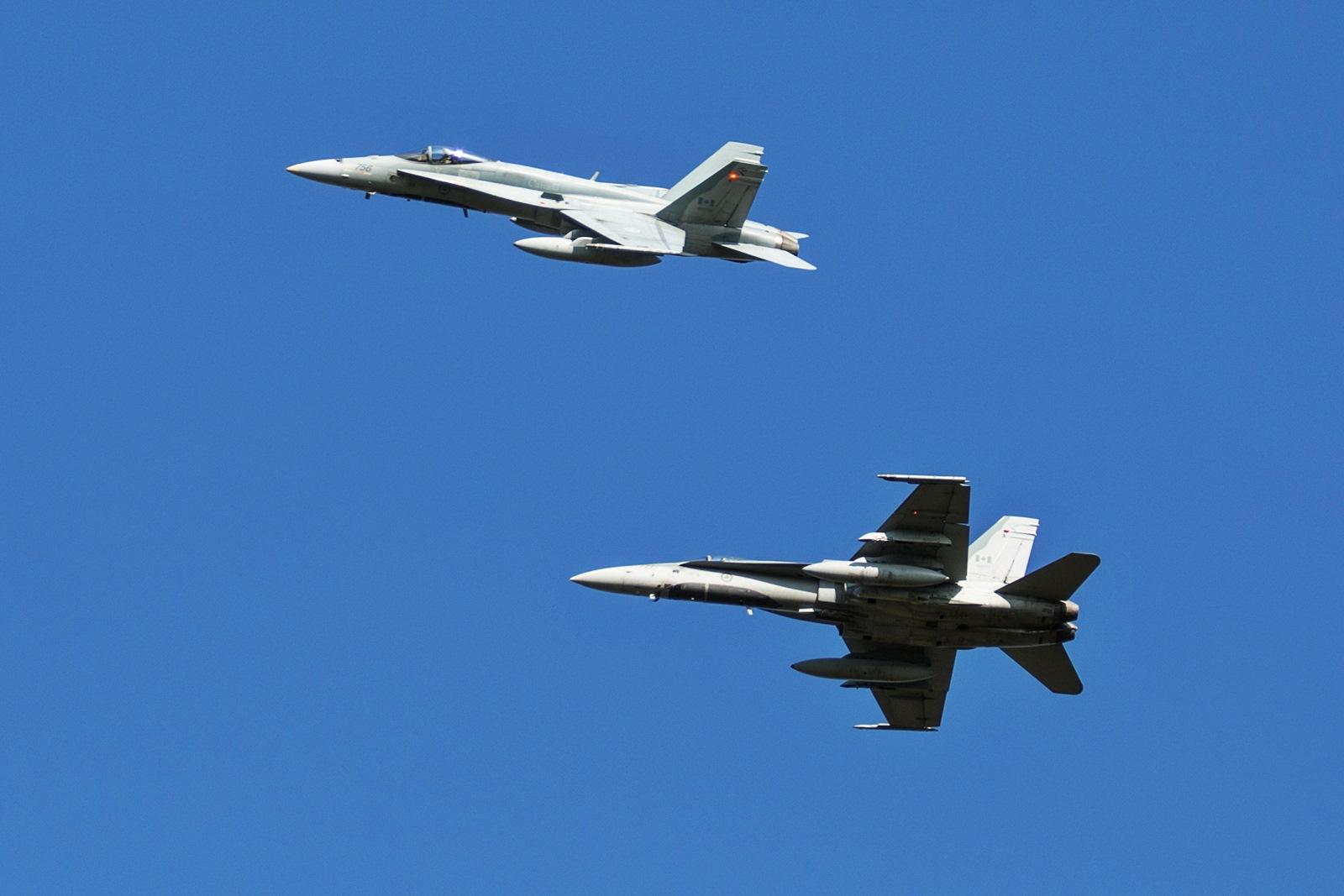 19회 BRTE 참가 캐나다공군 CF-188 전투기