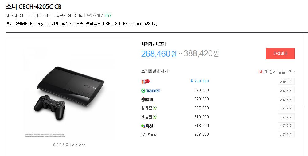 PS3 4000번대 가격인하