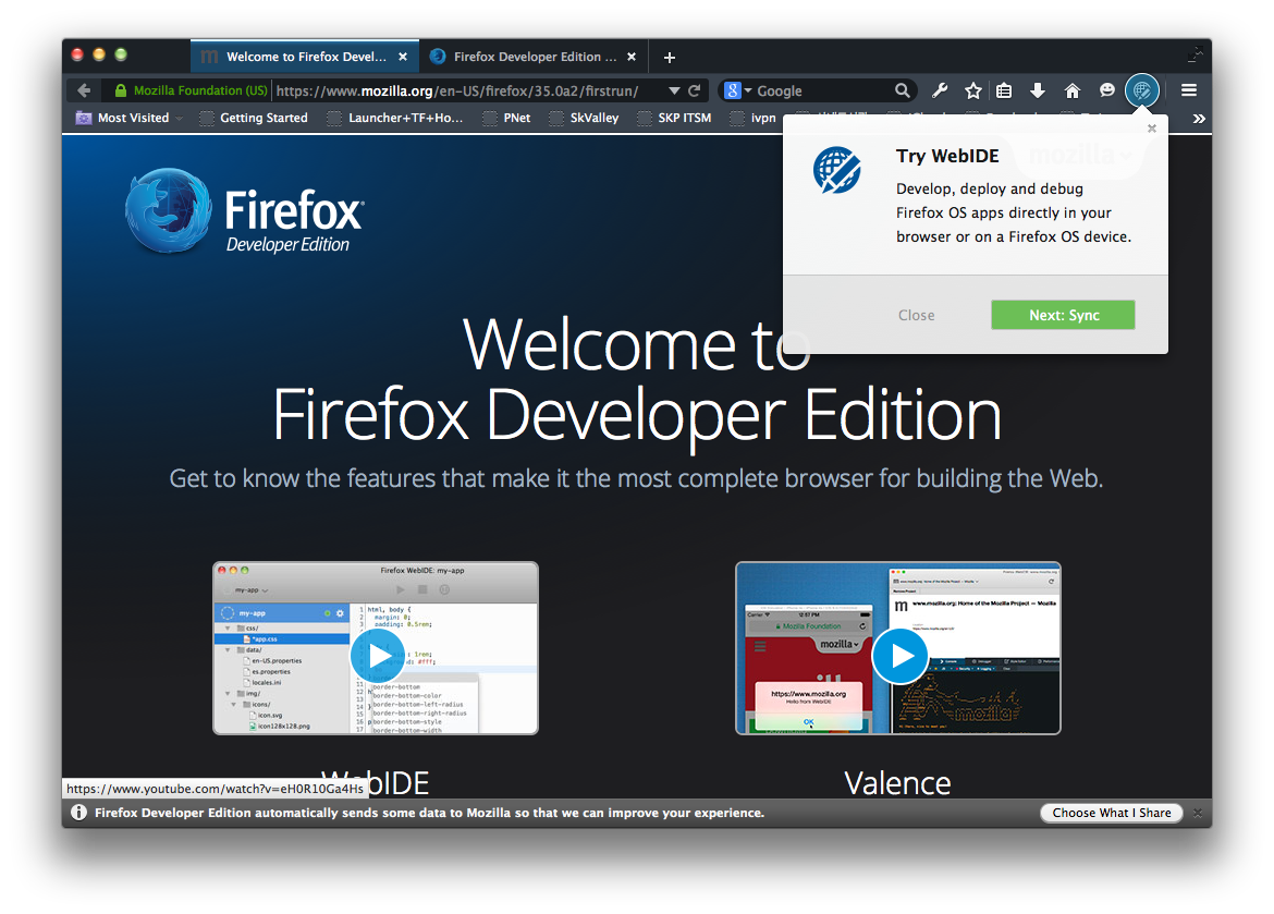 Firefox Developer Edition 발표