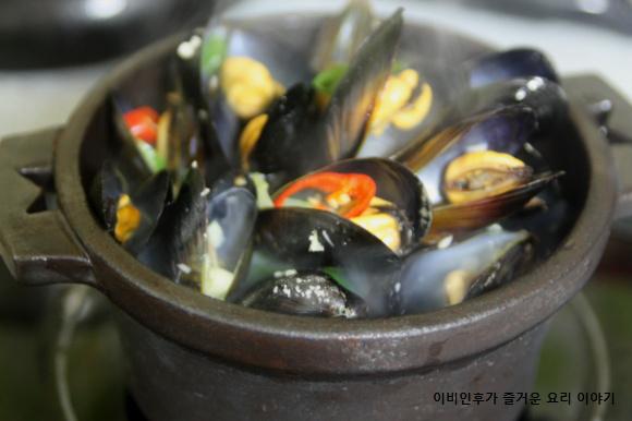 자취녀의계절밥상(겨울)-홍합탕과 홍합밥