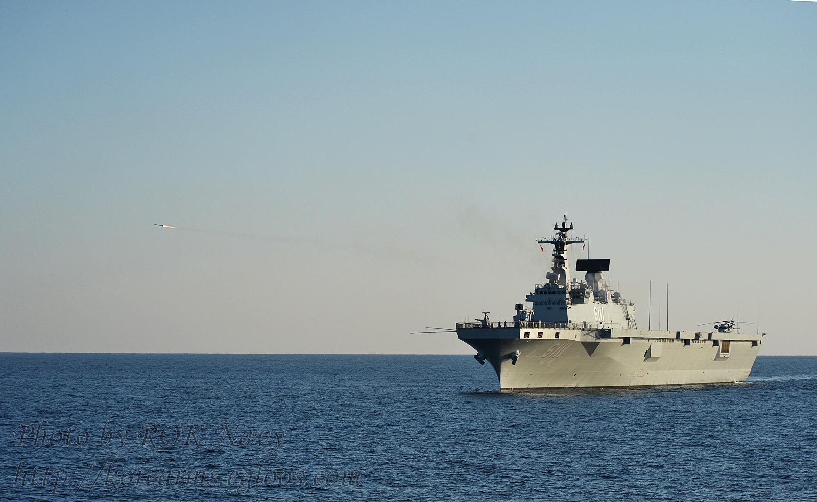 해군 강습상륙함 1번함 독도함 RAM 유도탄 사격실시