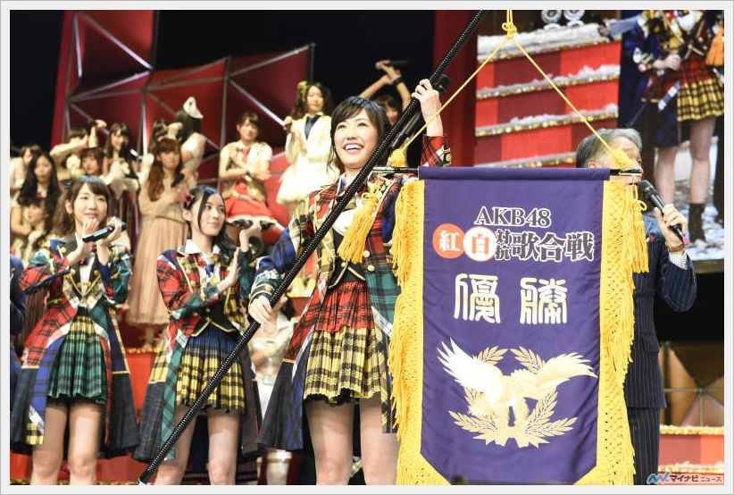 'AKB48 홍백대항가합전', 마유유가 이끄는 백팀이..
