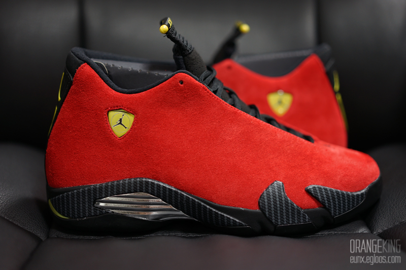 "[리뷰] AIR JORDAN 14 RETRO ""FERRARI"""