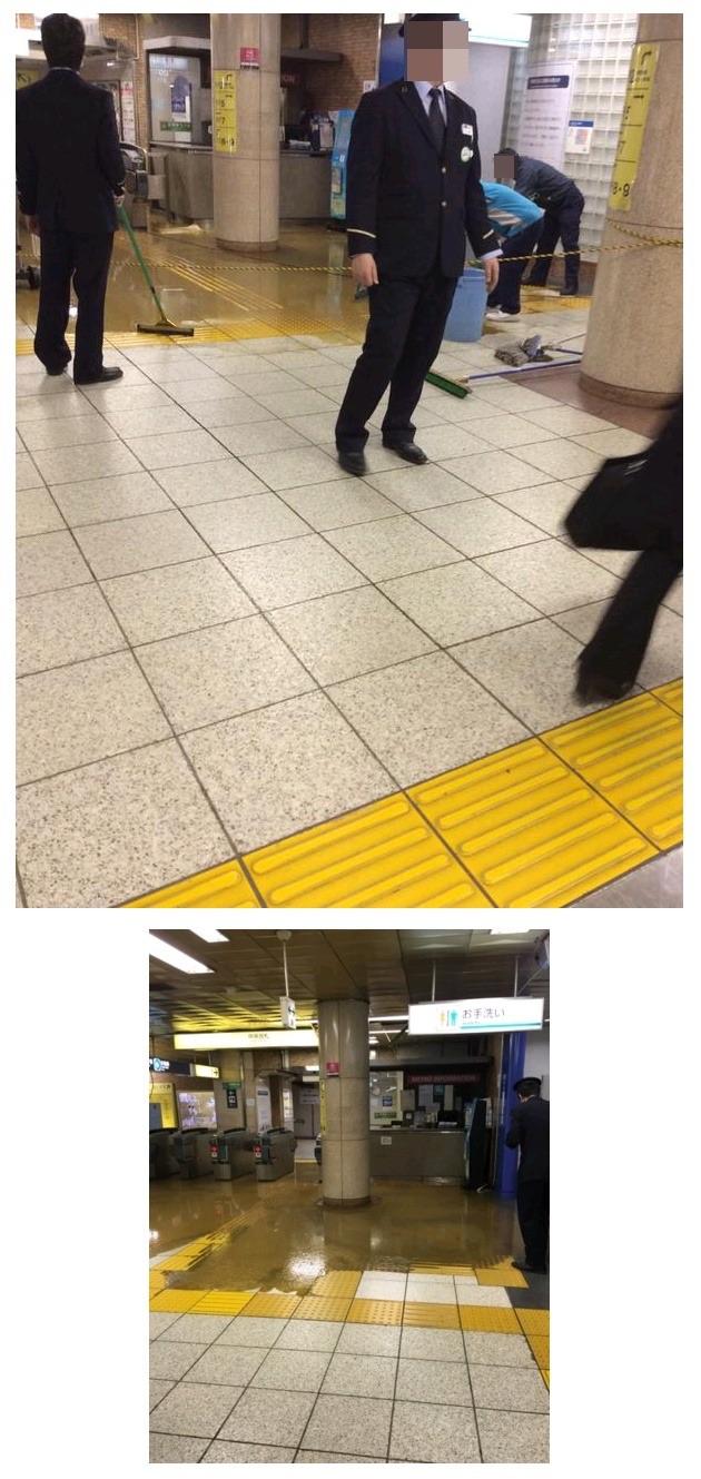 [사진주의]일본 어느 지하철역의 대참사