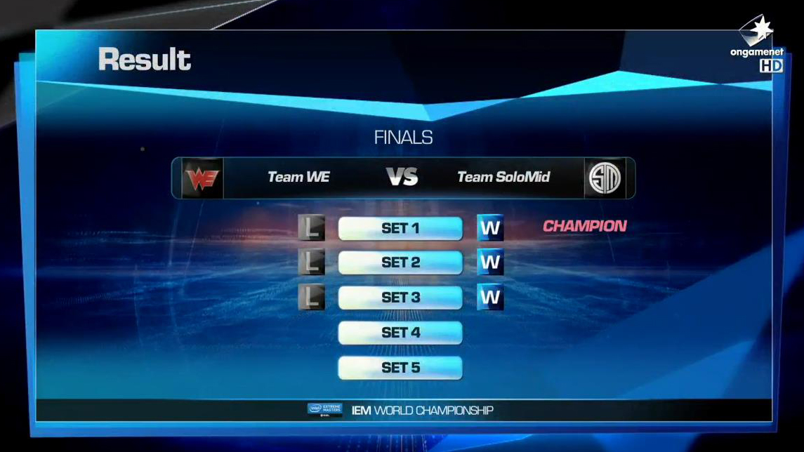 [LOL]IEM 9 World ChampionShip 우승 팀은 ..