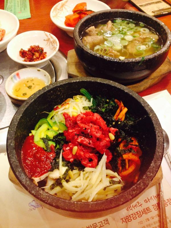 강강술래 신림점 - 육회 돌솥, 갈비탕
