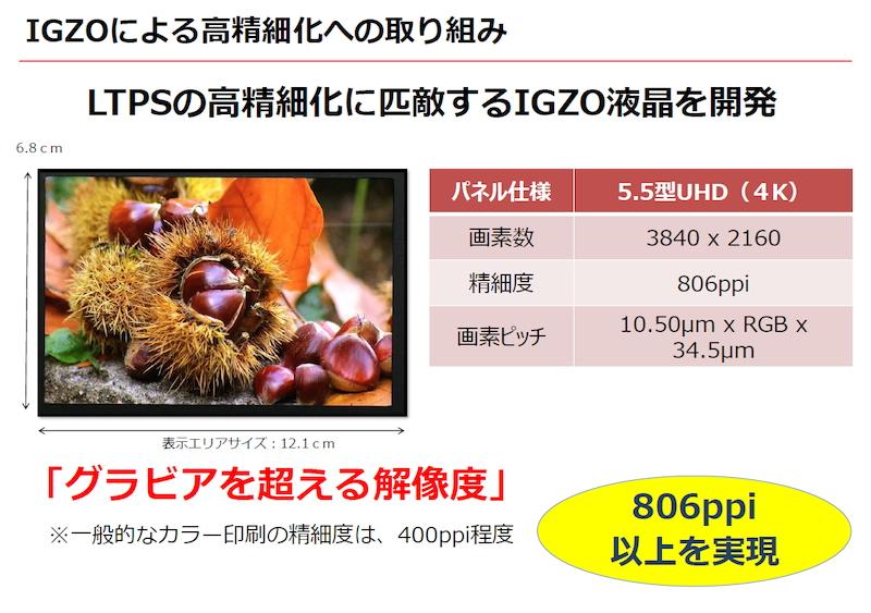 샤프, 스마트폰용 4K(UHD) 디스플레이 시연