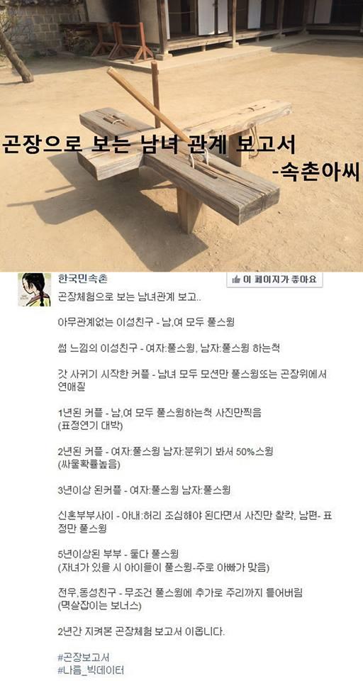 한국 민속촌 곤장보고서