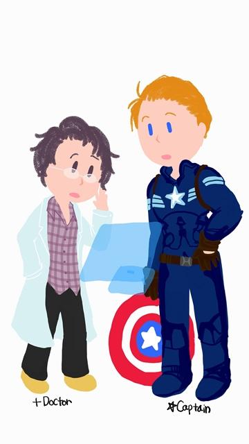 헐크와 캡틴 아메리카