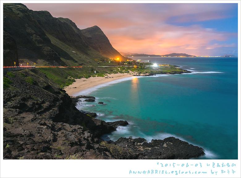 [하와이 오아후] 할로나 블로우 홀과 마카푸우 야경