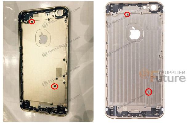 아이폰 6 +의 부품 사진이 나왔습니다.