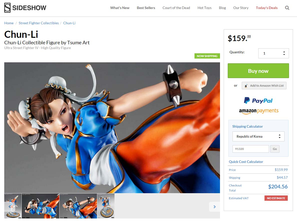 Sideshow Chun-Li Collectible Figure by T..