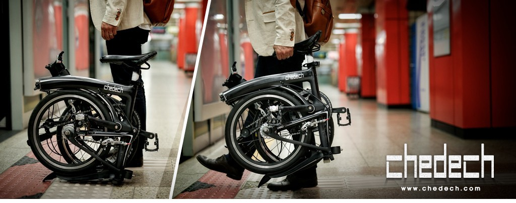 브롬톤의 카본버전 접이식 자전거 체데크