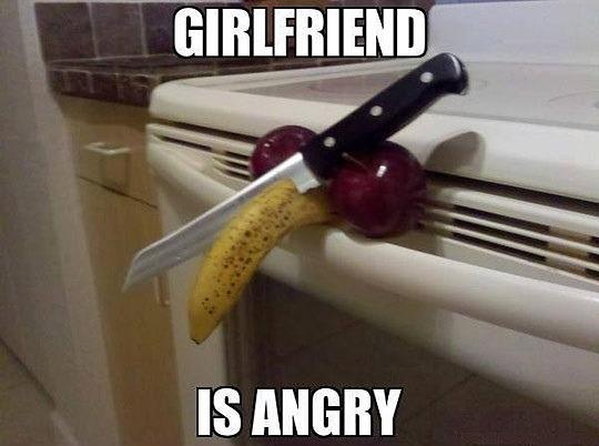 여자 친구가 화난거 같다