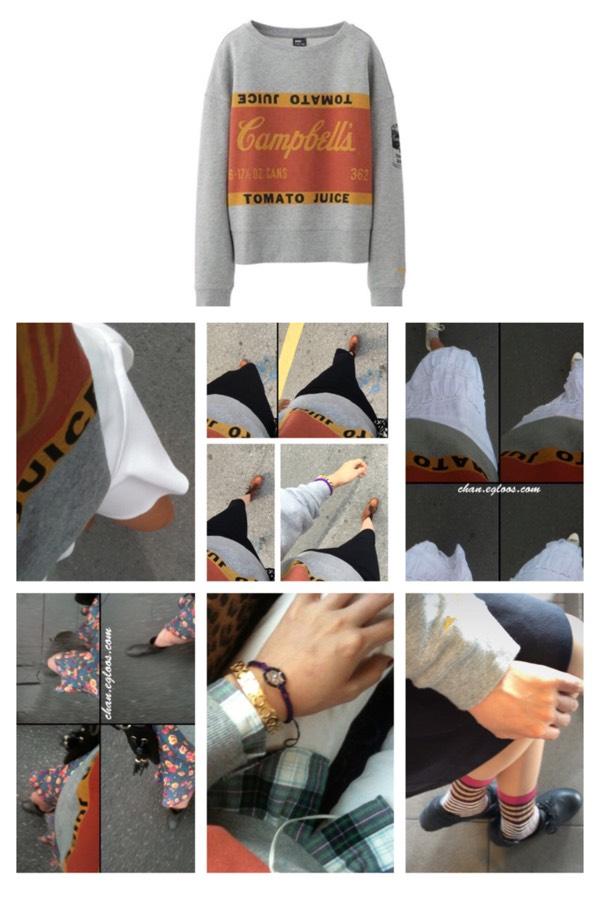 맨투맨 티셔츠 하나로 8가지 스타일링