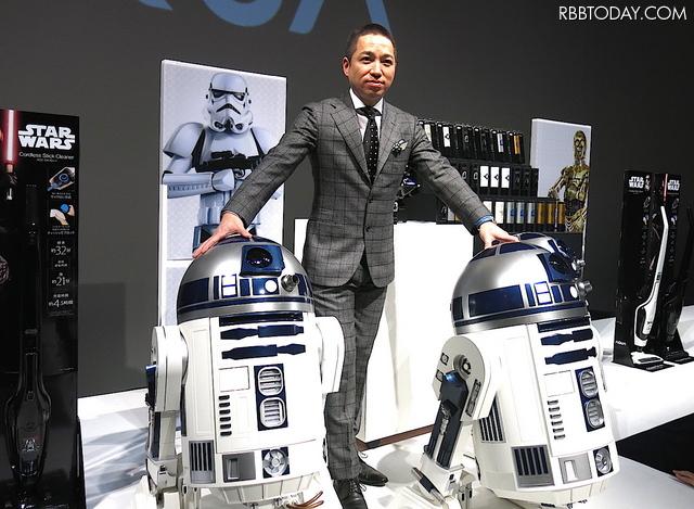 일본에서 스타워즈 캐릭터 상품 'R2-D2형 이동식 ..