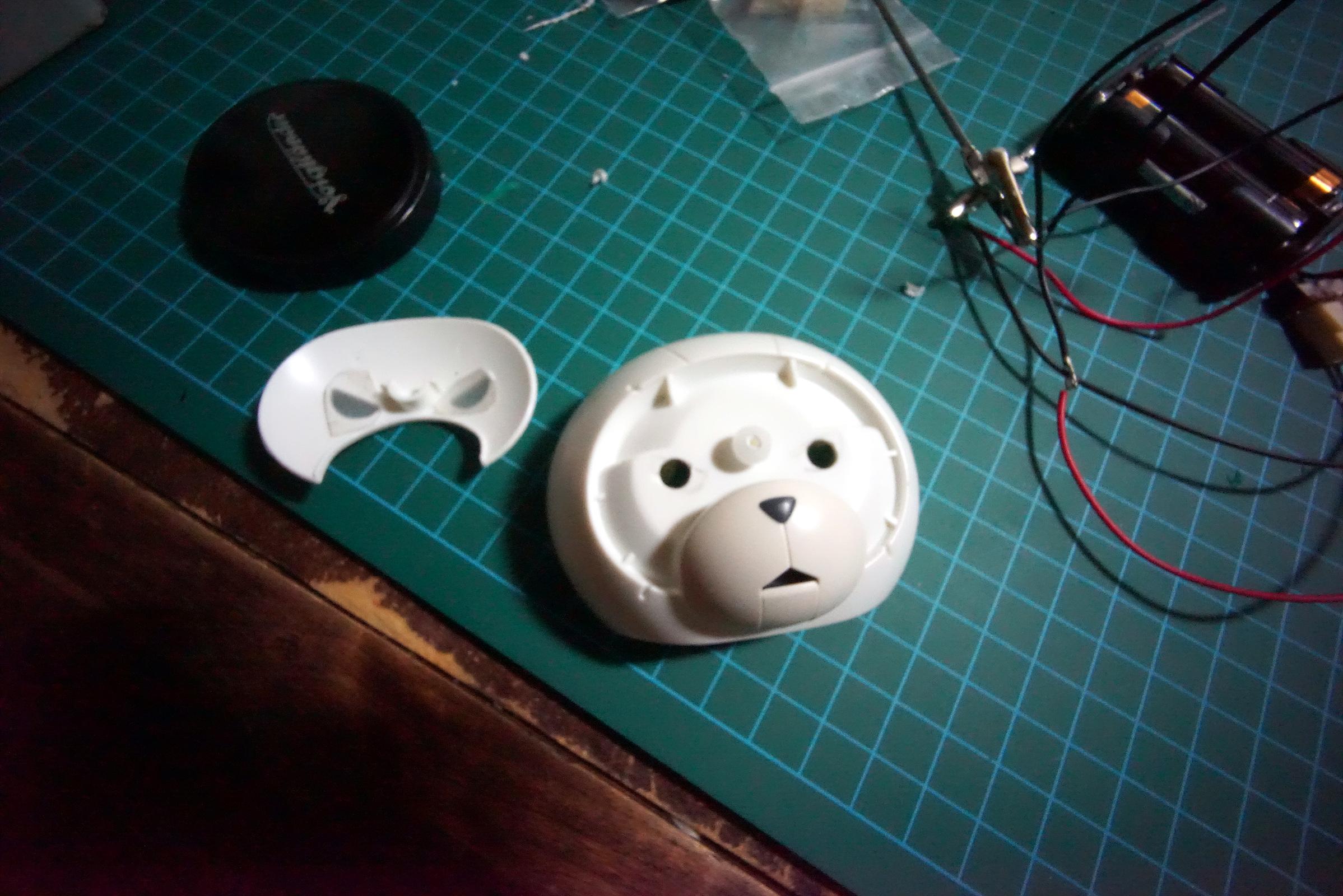 베앗가이(ver.아이언맨) LED 장착 및 테스트