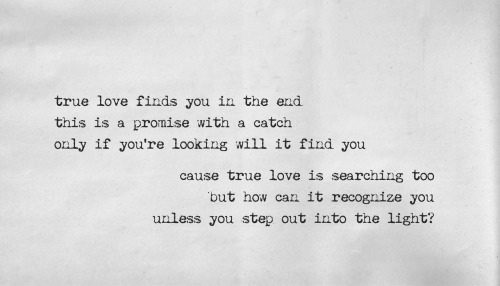 True love will find you in the end 좋은 커버.