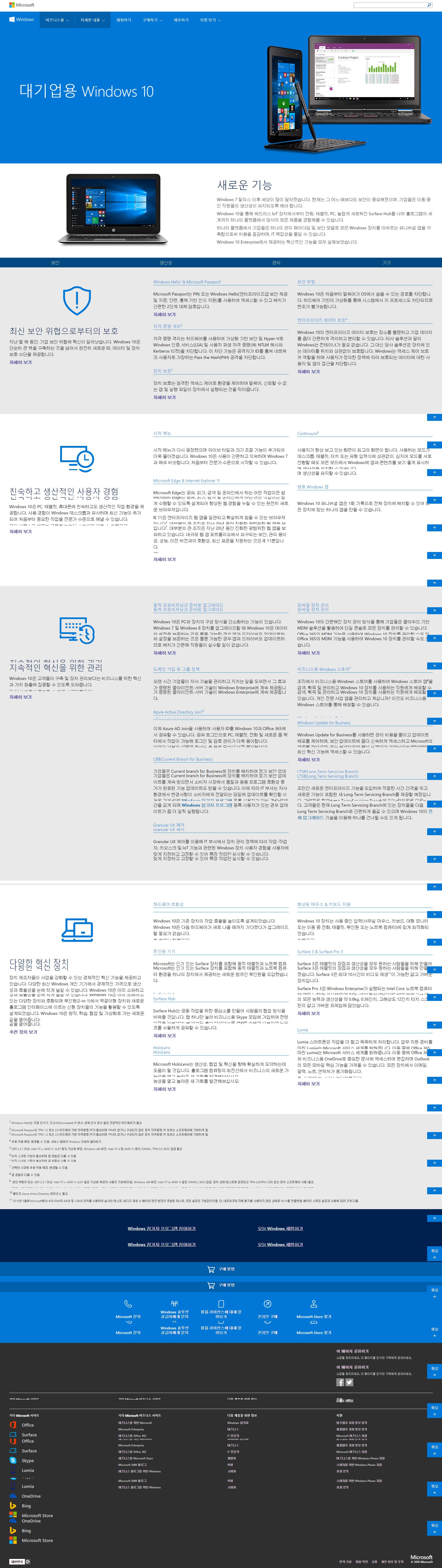 대기업용 Windows 10