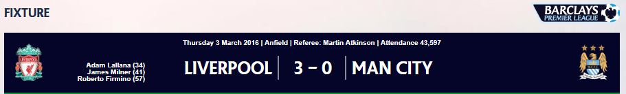 2015/16 EPL 28R 리버풀 VS 맨체스터시티