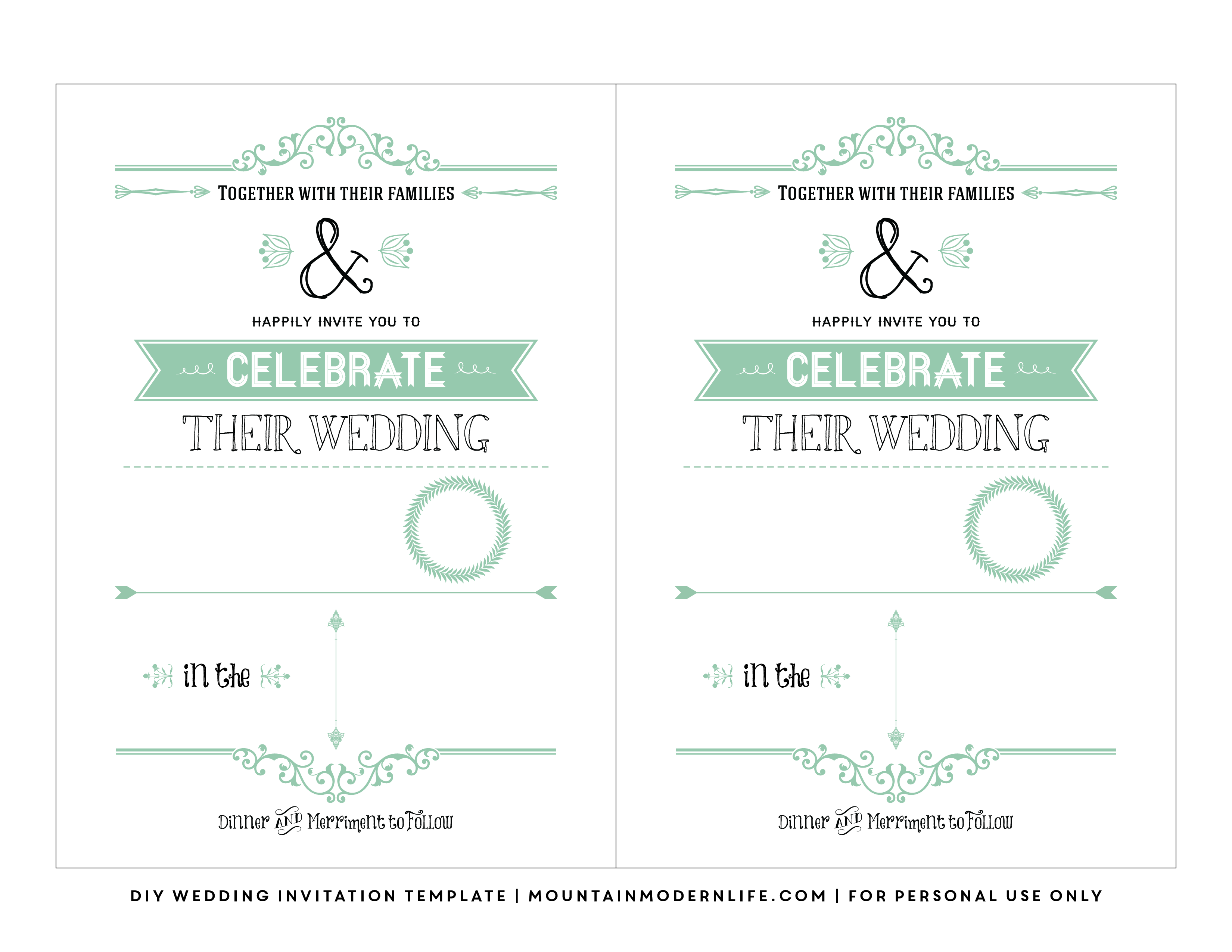 Blank Invitation is awesome invitations template