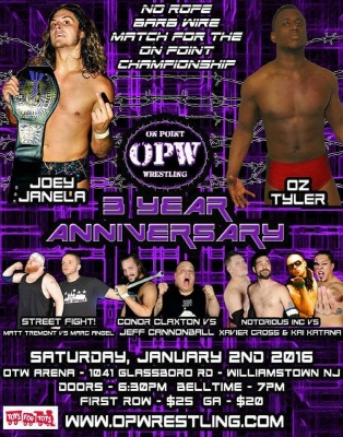 "On Point Wrestling(OPW) ""3rd Anniversary S.."