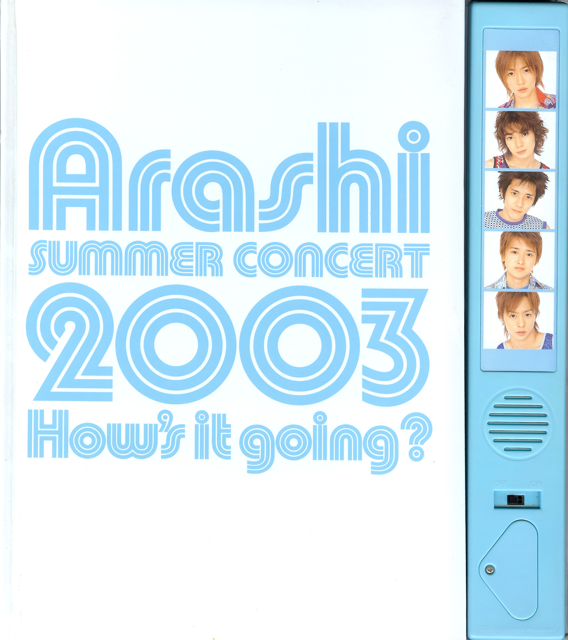 2003 How's it Going concert Pamphlet