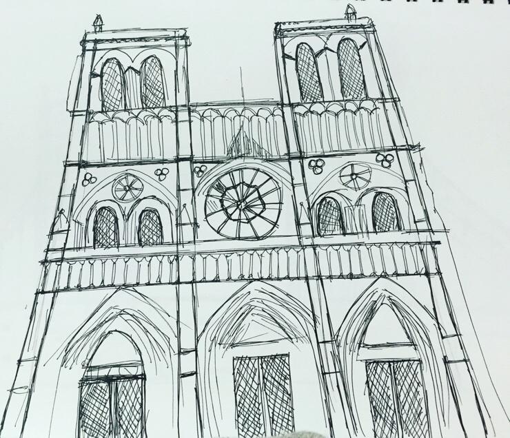 미술점수 C 마이너인 여자가 그린 노트르담 성당