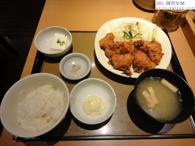 닭튀김정식 + 돼지고기볶음정식 야요이켄 기온점