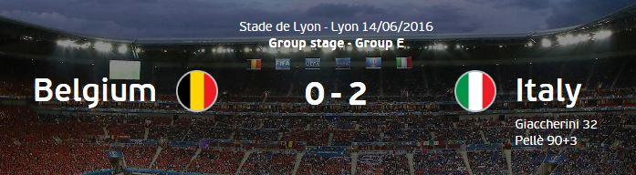 유로 2016 E조 벨기에 vs 이탈리아