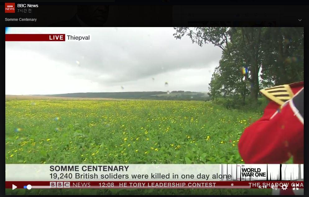 1916년 솜 전투에서 하루에 사망한 영국군의 수는?