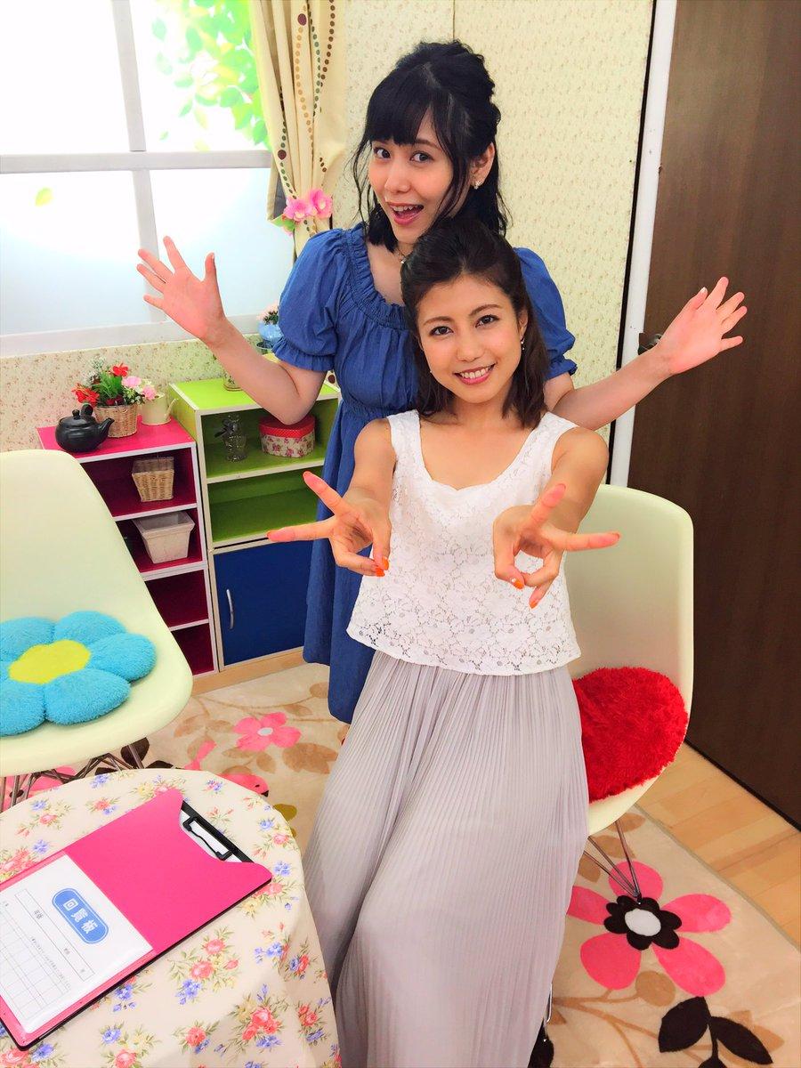 성우 츠다 미나미 & 시라이시 료코씨의 방송 녹화 사진